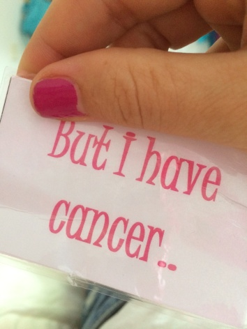 Obligatory cancer card I can play at any time. Watch out. Kind regards to concept designer and creator, Nikki.