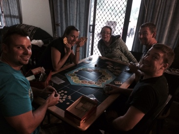 20/4/14 - Settlers tourny with my loved ones and Brett.