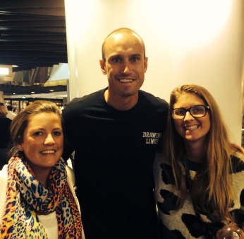 14/4/14 - Met Fitzy in the city! Such a nice bloke.
