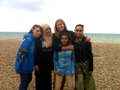 WIth my fav students from CFGS at Brighton Beach on a very educational excursion haha! They had never been to the beach before and had lived in London their whole life (London is about an hour train ride to Brighton), England