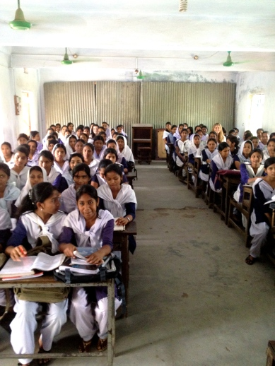 Can you spot me? Visiting a school in Sunamgunj, Bangladesh