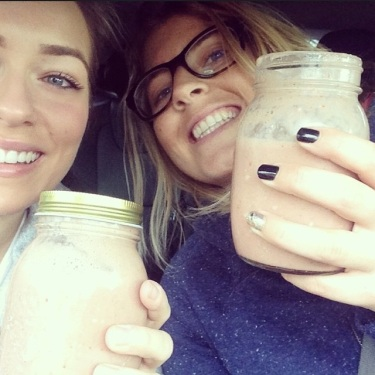 Super smoothies with my girl Keets.