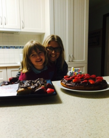 Lots of chocolate and strawberries for my birthday